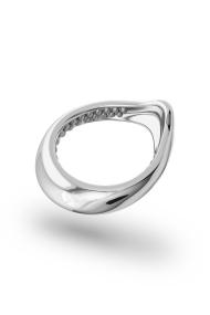 Adonis Stimu Glans Ring, Silver