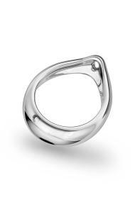 Adonis Prince Albert 3 Glans Ring, Silver