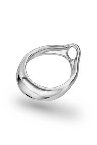 Adonis Prince Albert 7 Glans Ring, Silver