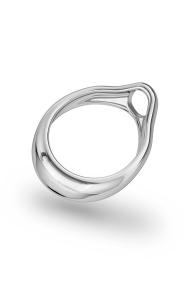 Adonis Prince Albert 8 Glans Ring, Silver