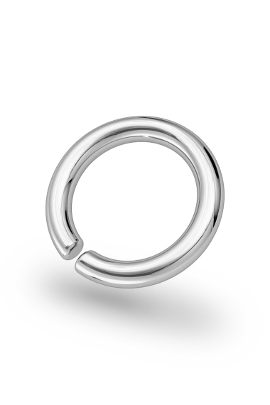 Asopos Classic Glans Ring, Silver
