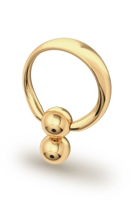 Apollon Double Ball Glans Ring, Gold