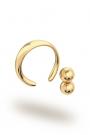 Apollon Double Ball Glans Ring, Gold