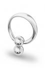 Apollon Double Ball Glans Ring, Silver