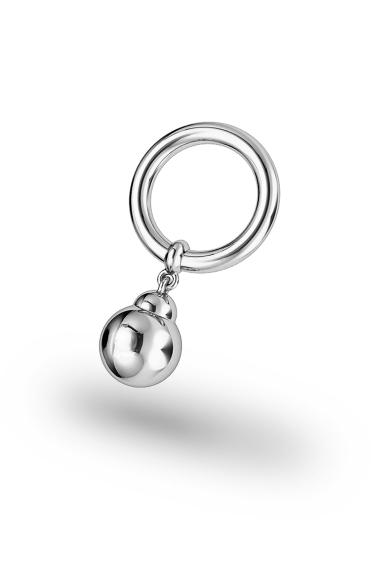 Asopos Pendeloque Glans Ring, Silver