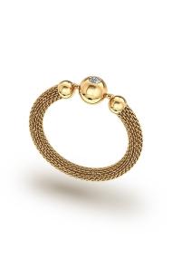 Hades Mesh XL Cock Ring, Gold