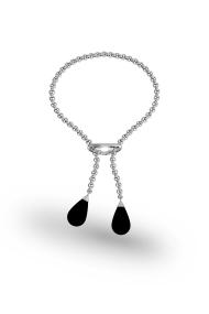 Kronos Onyx Penis Chain, Silver