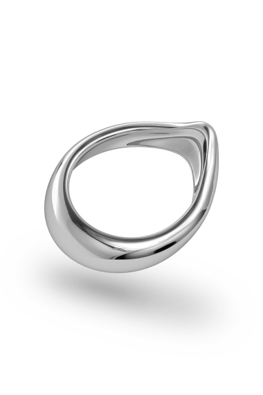 Adonis Classic Glans Ring, Silver