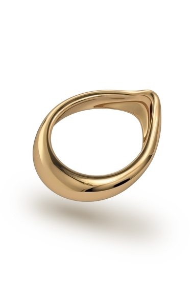 Adonis Classic Glans Ring, Gold