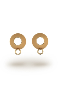 Alexia Ring XL Frosted Nipple Shields, Gold