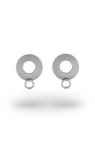 Alexia Ring XL Frosted Nipple Shields, Silver