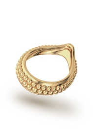 Adonis Pearl Glans Ring, Gold