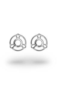 Melina ArtDeco Nipple Shields, Silver