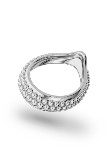 Adonis Pearl Glans Ring, Silver