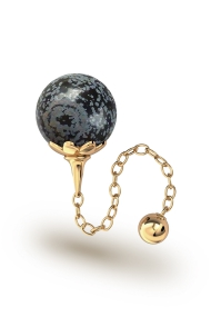 Helena Obsidian Vaginal Ball, Gold