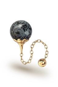 Helena Obsidian Vaginalkugel, Gold