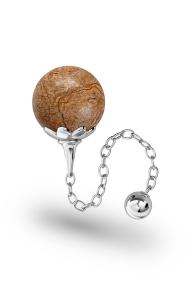 Helena Landschaftsjaspis Vaginal Ball, Silver
