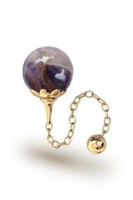 Helena Amethyst Vaginal Ball, Gold