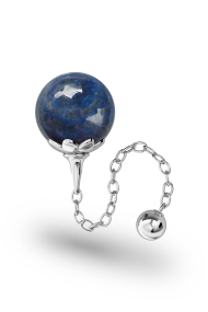 Helena Lapislazuli Vaginal Ball, Silver