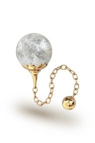 Helena Bergkristall Vaginalkugel, Gold