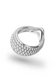 Adonis Pearl XL Glans Ring, Silver