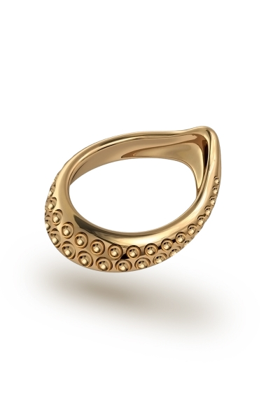 Adonis Vulcano Glans Ring, Gold