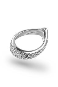 Adonis Vulcano Glans Ring, Silver