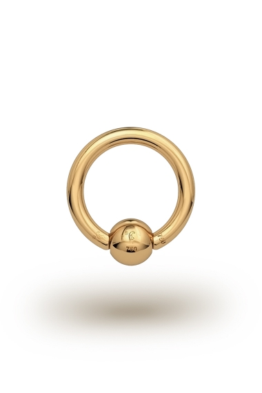 Olympia Classic 1,8/5 Ball Closure Ring, Yellow Gold