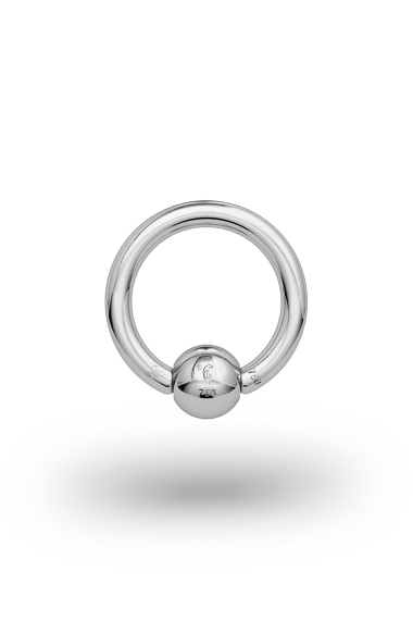 Olympia Classic 1,8/5 Ball Closure Ring, White Gold