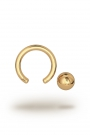 Olympia Classic 1,8/6 Ball Closure Ring, Yellow Gold