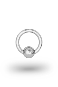 Olympia Classic 1,8/6 Ball Closure Ring, White Gold
