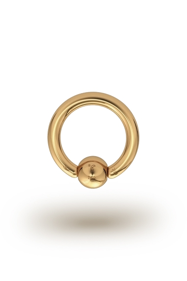 Olympia Classic 2,0/5 Ball Closure Ring, Yellow Gold
