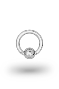 Olympia Classic 2,0/6 Ball Closure Ring, White Gold