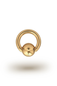 Olympia Classic 2,5/8 Ball Closure Ring, Yellow Gold