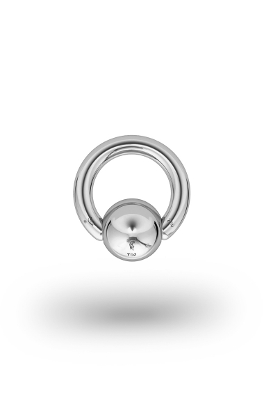 Olympia Classic 2,5/8 Ball Closure Ring, White Gold