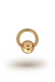 Olympia Classic 2,5/10 Ball Closure Ring, Yellow Gold