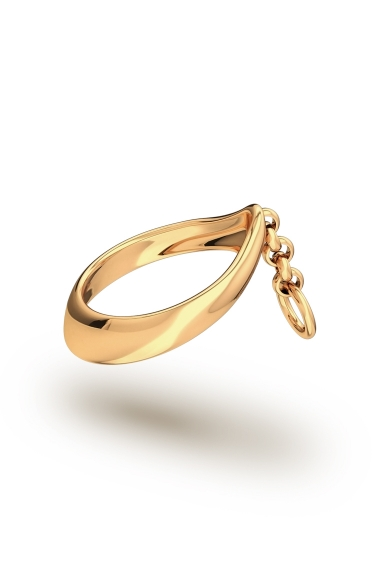 Adonis Chain Glans Ring, Gold