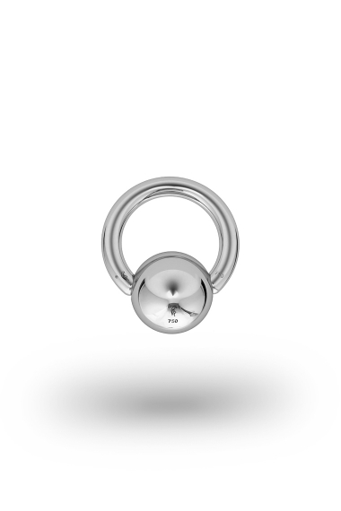 Olympia Classic 2,5/10 Ball Closure Ring, White Gold