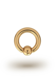 Olympia Classic 3,0/6 Ball Closure Ring, Yellow Gold