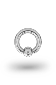 Olympia Classic 3,0/6 Ball Closure Ring, White Gold