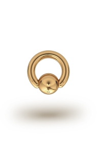 Olympia Classic 3,0/8 Ball Closure Ring, Yellow Gold
