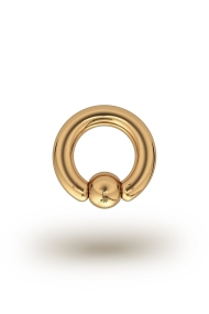 Olympia Classic 3,5/6 Ball Closure Ring, Yellow Gold