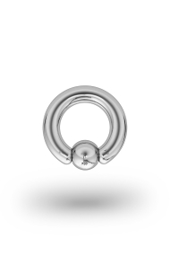 Olympia Classic 3,5/6 Ball Closure Ring, White Gold