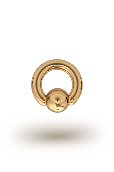 Olympia Classic 3,5/8 Ball Closure Ring, Yellow Gold