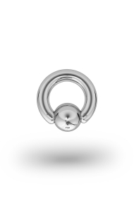 Olympia Classic 3,5/8 Ball Closure Ring, White Gold