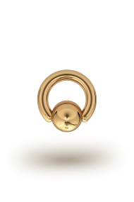 Olympia Classic 3,5/10 Ball Closure Ring, Yellow Gold