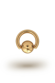 Olympia Classic 3,5/12 Ball Closure Ring, Yellow Gold