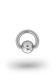 Olympia Classic 3,5/12 Ball Closure Ring, White Gold