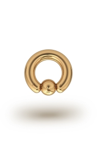 Olympia Classic 4,0/6 Ball Closure Ring, Yellow Gold