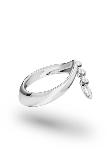 Adonis Chain Glans Ring, Silver